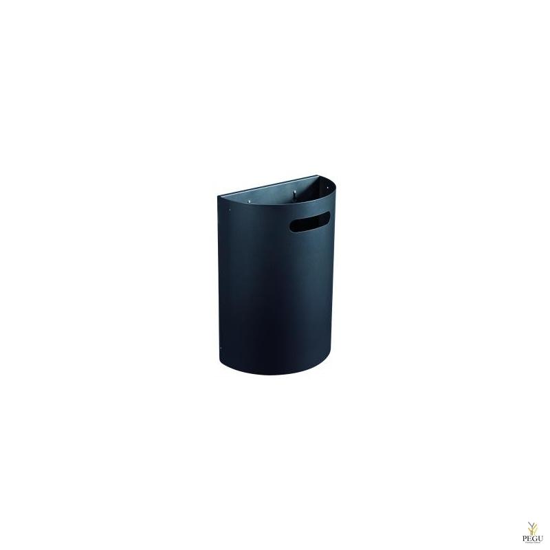 Урна для мусора ARKEA 20L съёмная настенная матовый антрацит RAL7016
