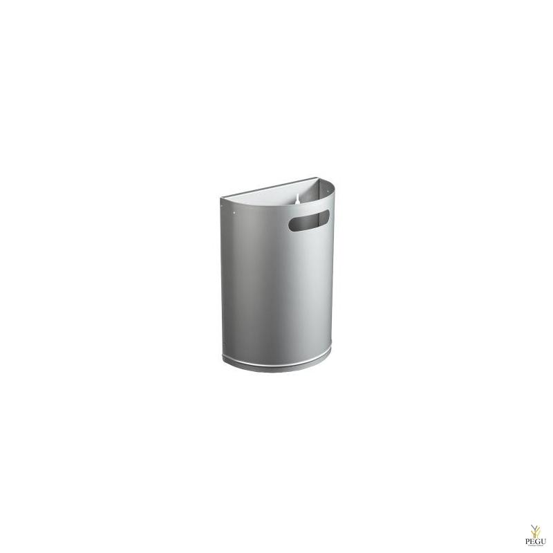 Урна для мусора ARKEA 20L съёмная настенная металлик серый RAL9006