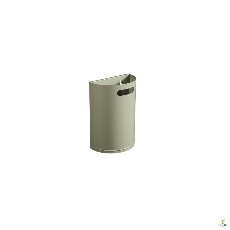 Урна для мусора ARKEA 20L съёмная настенная серый цемент RAL7033