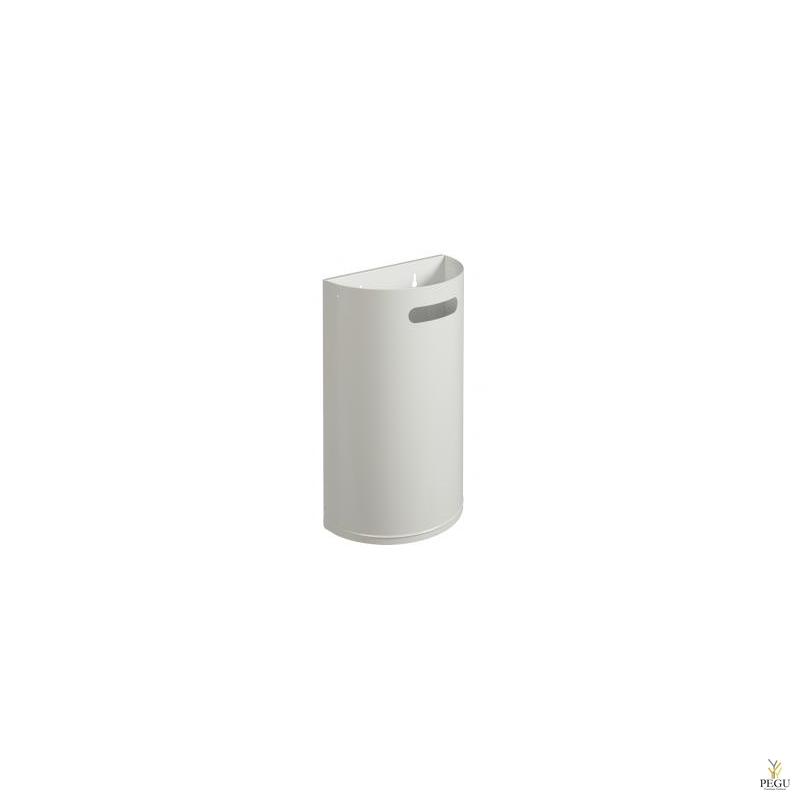 Урна для мусора ARKEA 40L съёмная настенная трафик белый RAL9016