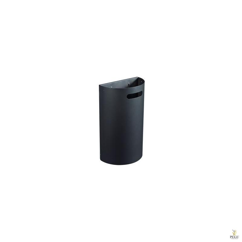 Урна для мусора ARKEA 40L съёмная настенная матовый антрацит RAL7016