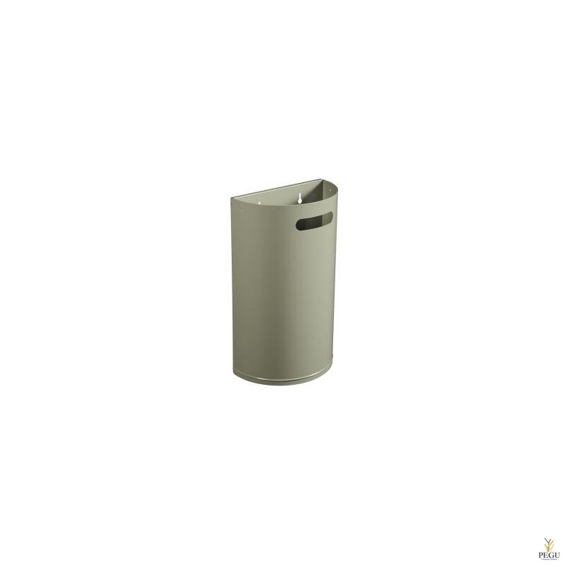 Урна для мусора ARKEA 40L съёмная настенная цементно серый RAL7033