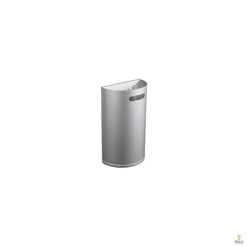 Prügikast välitingimusele ARKEA 40L eemaldatav seinale metall hall RAL9006