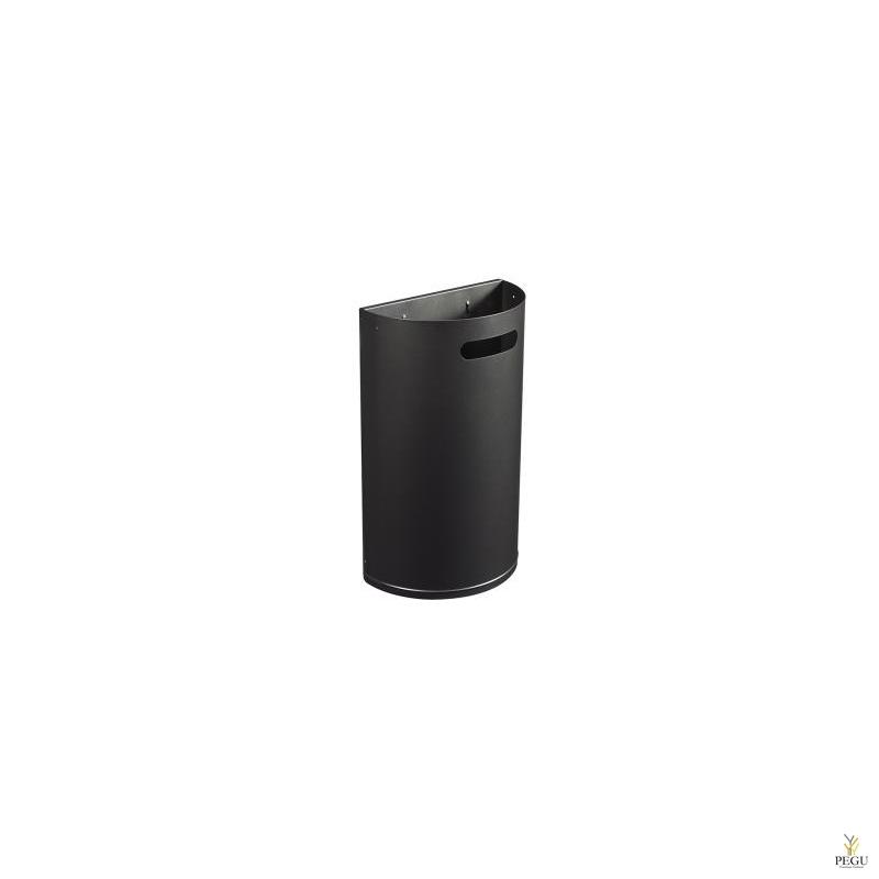 Урна для мусора ARKEA 40L съёмная настенная  марганец серый
