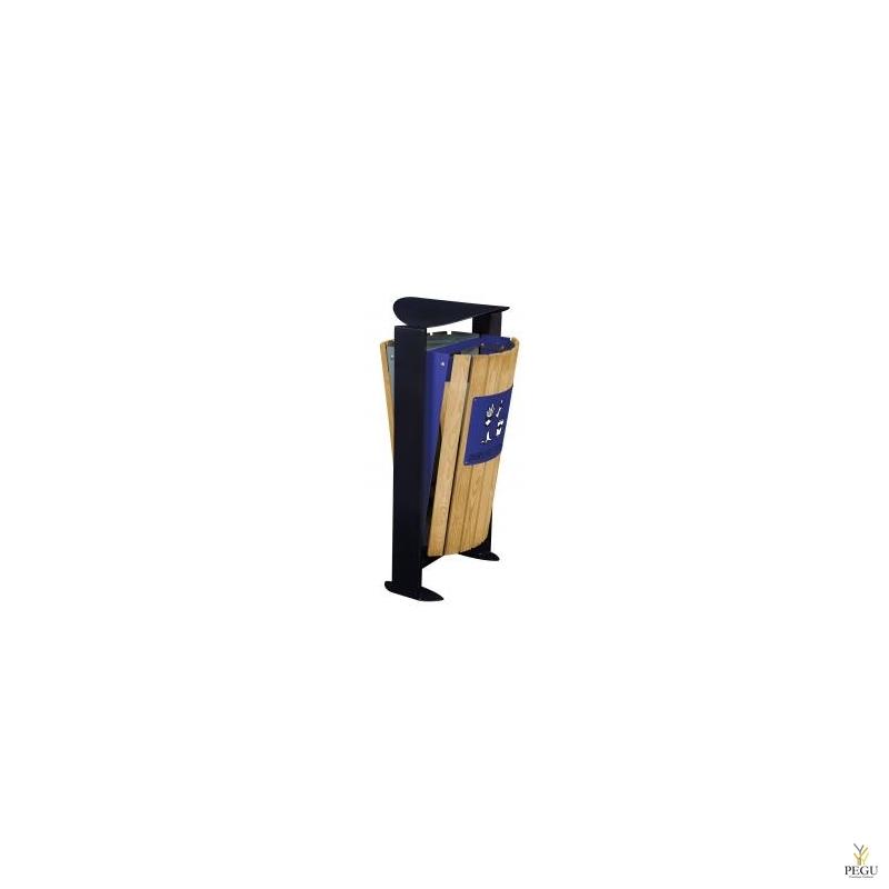 Prügikast välitingimustele ARKEA WOOD 2x60L Hall-Ultramarine