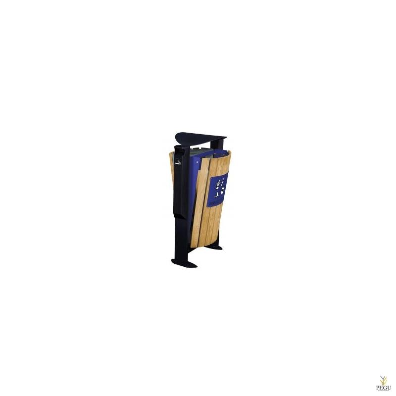 Prügikast välitingimusele ARKEA puu 2x60L Hall-Ultramarine, tuhatoosiga 3L