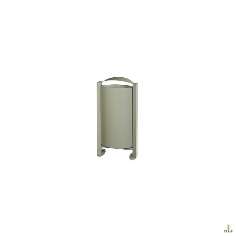 Уличная мусорница  ARKEA 60L серый цемент RAL7033