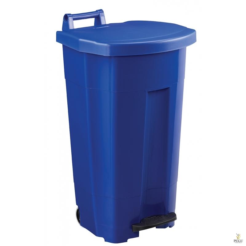 Prügikast pedaaliga ja kaanega BOOGY 90L plastik sinine