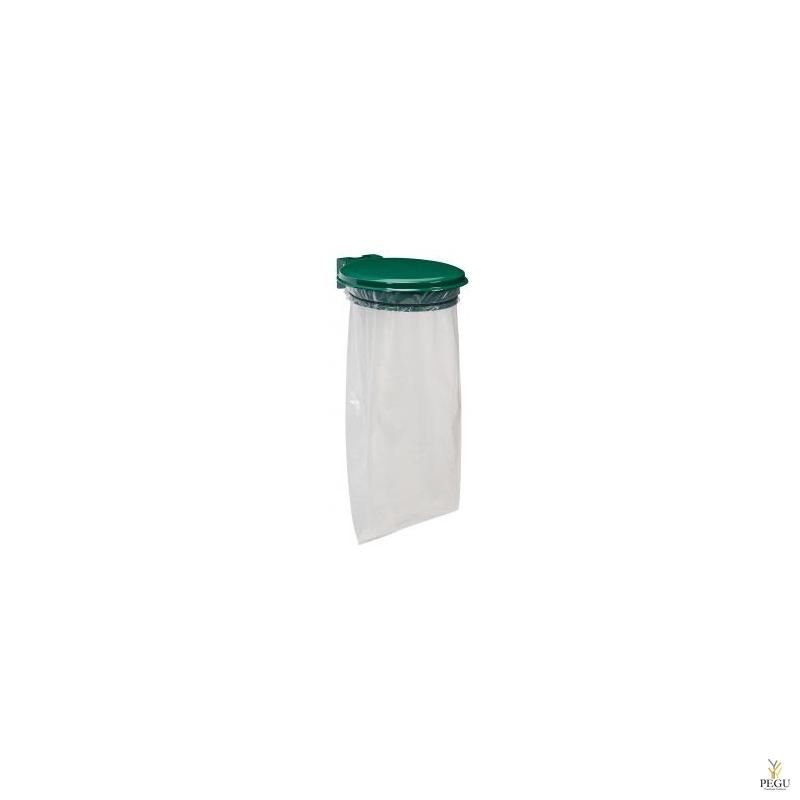 Prügikotihoidja kaanega COLLECMUR ESSENTIEL 110L seinale moss roheline RAL6005