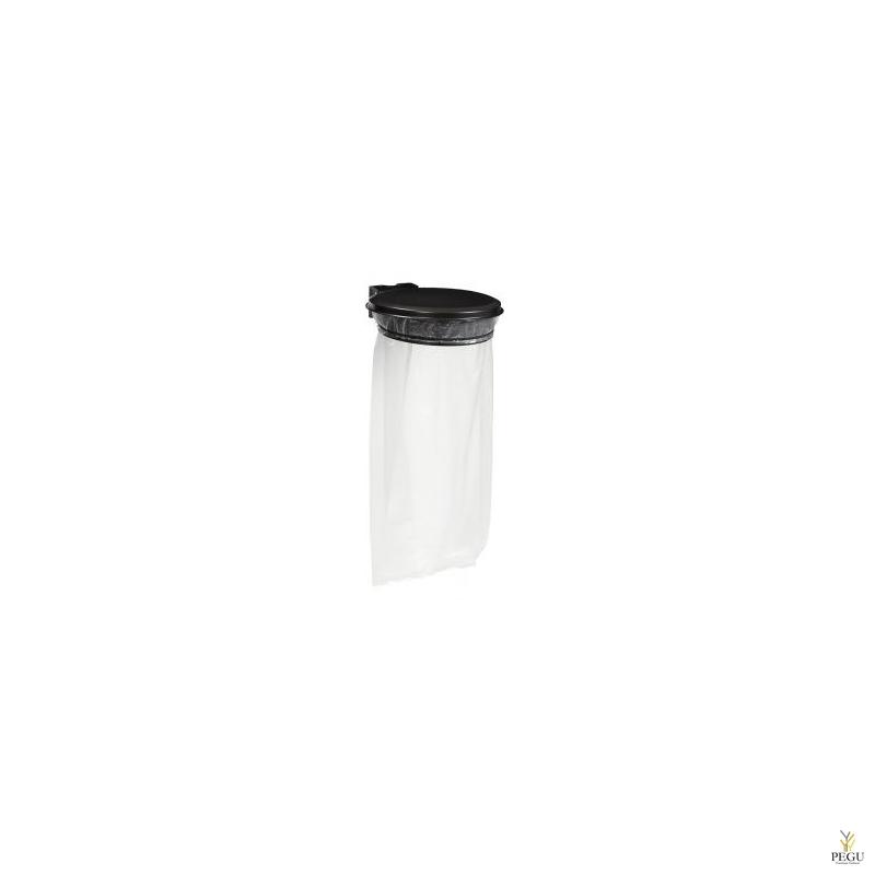 Дежатель для мусорного мешка с крышкой COLLECMUR EXTREME 110L настенный магний серый