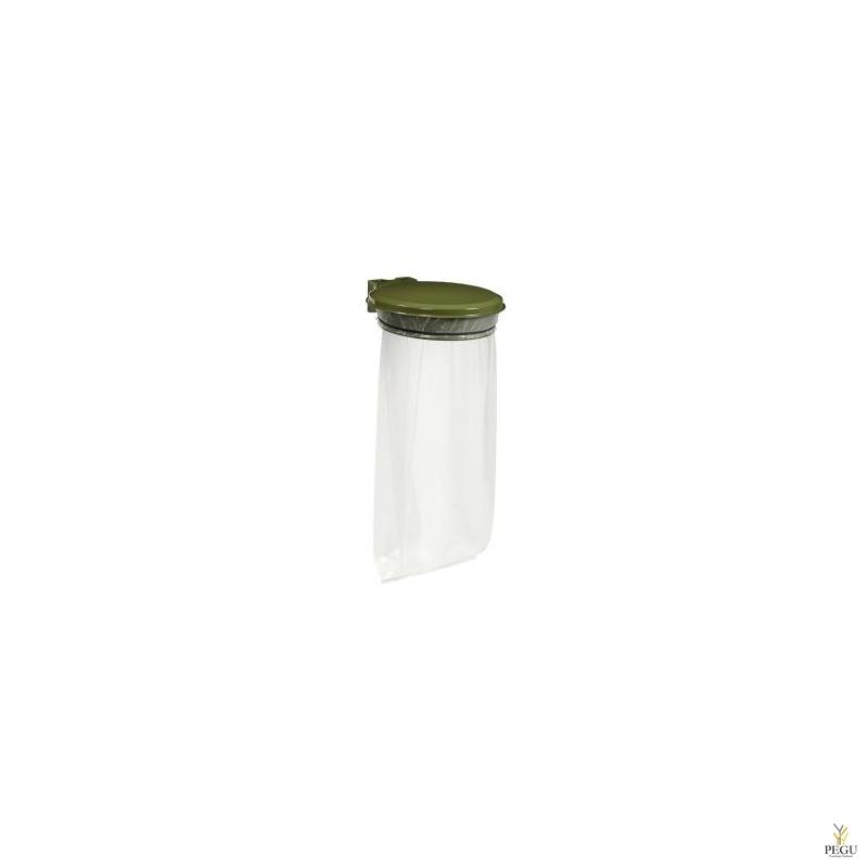 Prügikotihoidja kaanega COLLECMUR EXTREME 110L seinale olive roheline RAL6003