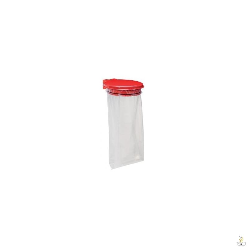 Дежатель для мусорного мешка с крышкой COLLECMUR EXTREME 110L настенный traffik красный RAL3020