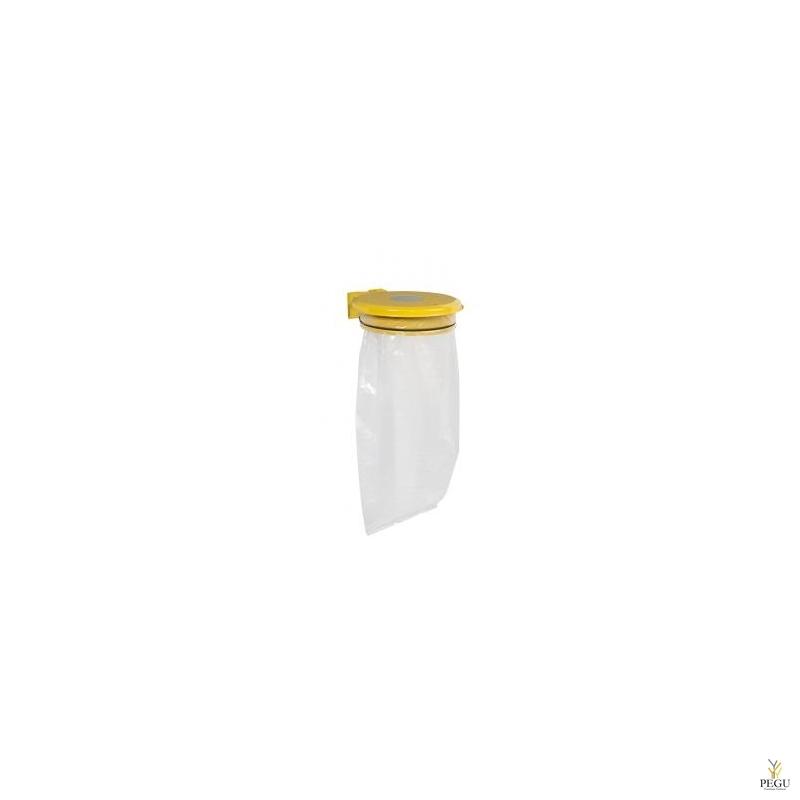 Дежатель для мусорного мешка с крышкой и замком COLLECTRAP ESSINTIEL 110L настенный жёлтый RAL1021