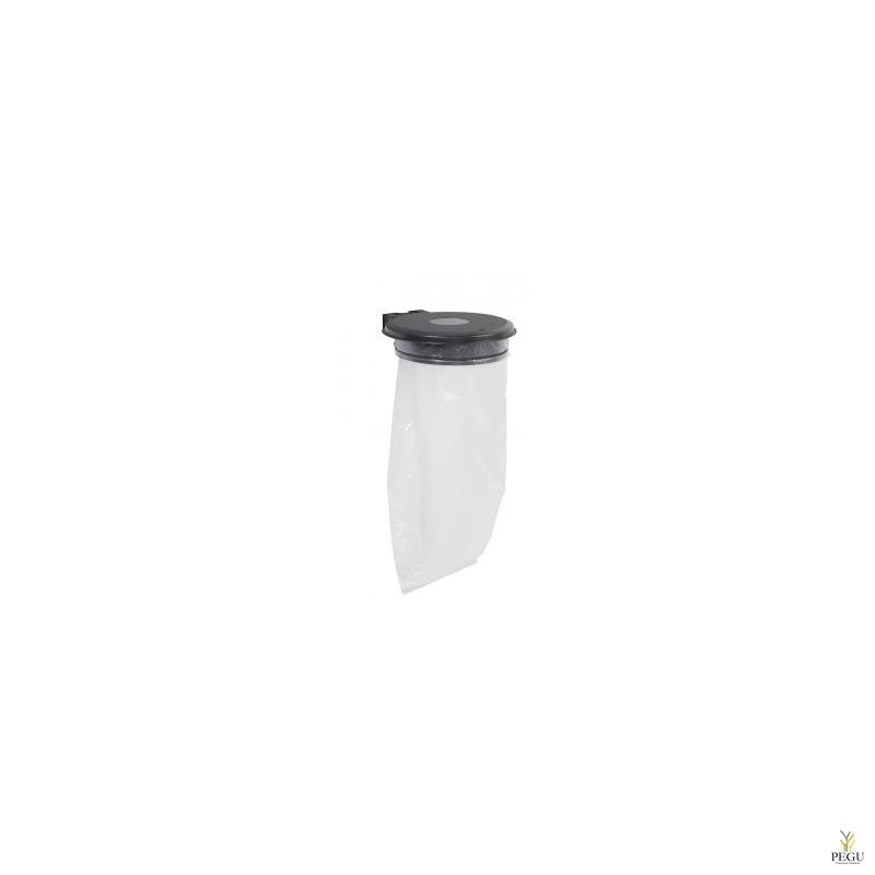 Дежатель для мусорного мешка с крышкой и замком COLLECTRAP ESSINTIEL 110L настенный магний серый