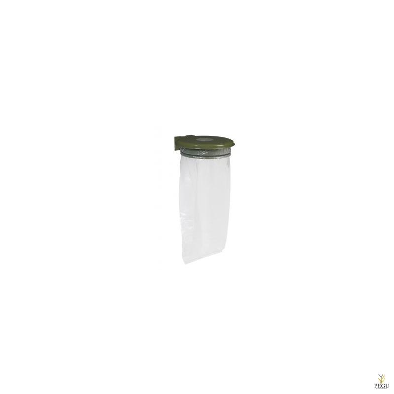 Prügikotihoidja kaanega ja lukuga COLLECTRAP ESSINTIEL 110L seinae olive roheline RAL6003