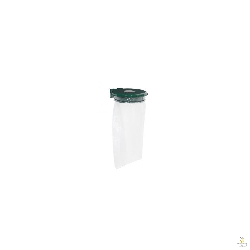 Prügikotihoidja kaanega ja lukuga COLLECTRAP ESSINTIEL 110L seinae moss roheline RAL6005