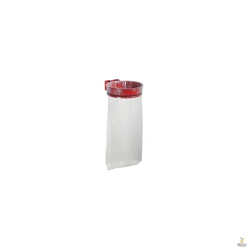 Дежатель для мусорного мешка ECOLLECTO ESSENTIEL 110L настенный traffik красный RAL3020