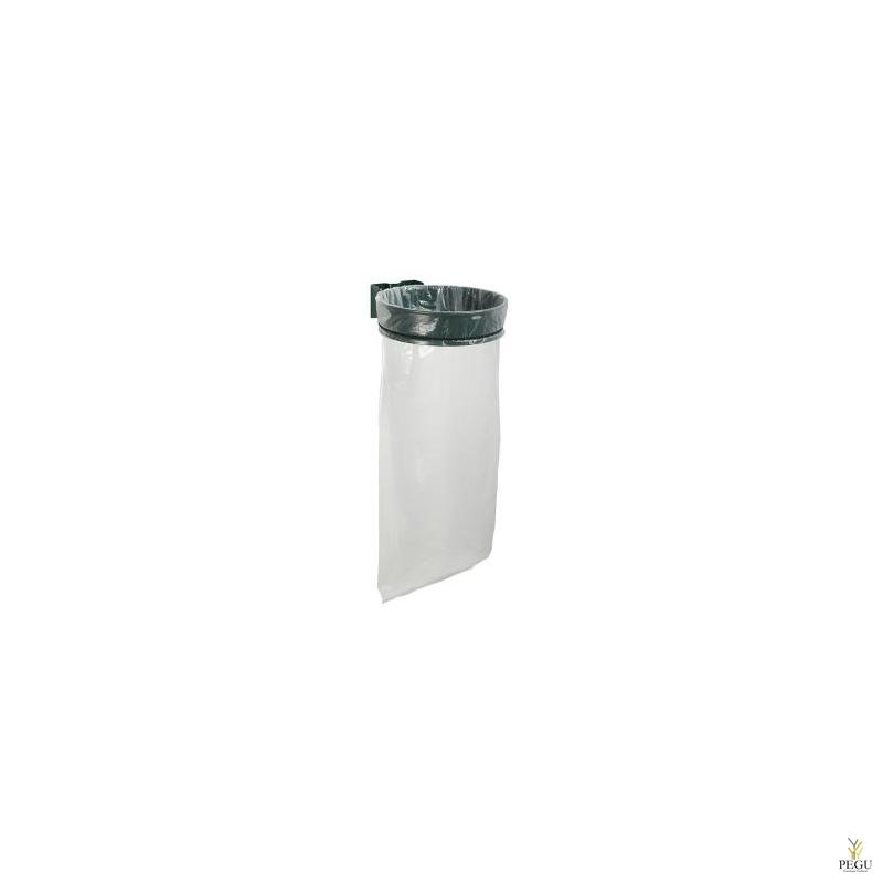 Prügikotihoidja ECOLLECTO ESSENTIEL 110L seinale moss roheline RAL6005