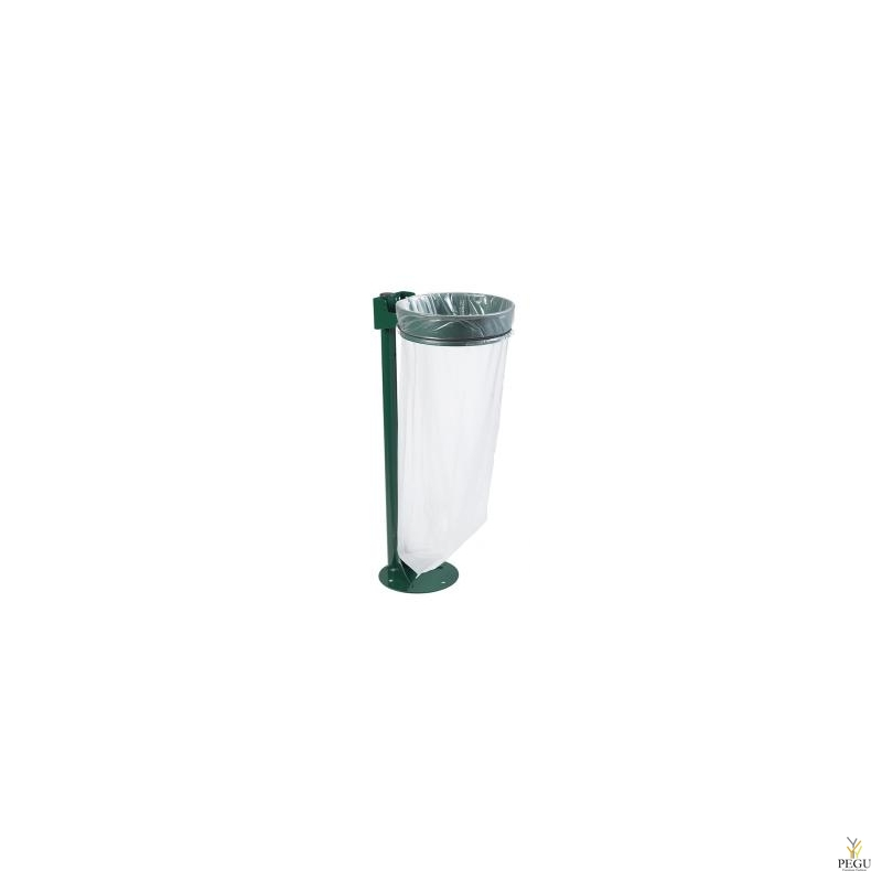 Держатель для мусорного мешка без крышки ECOLLECTO ESSENTIEL 110L непольный moss зелёный RAL6005