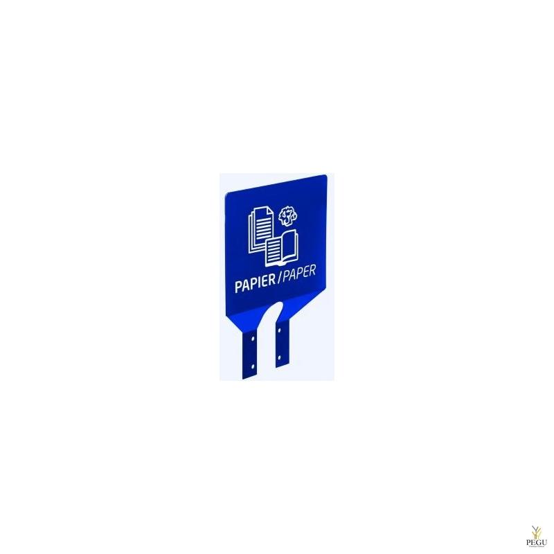 Знак для сортировки мусора на крепление Бумага ультрамарин RAL5002