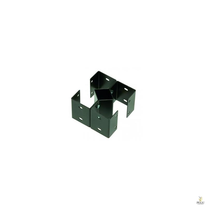 Комплект для крепления на столб под 4-урны магний серый