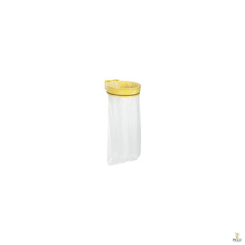 Дежатель для мусорного мешка ECOLLECTO EXTREME 110L настенный жёлтый RAL1021