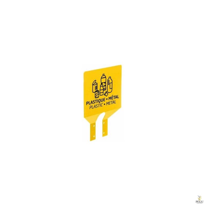 Sorteerimise plaat postile plastic/metall kollane RAL1021