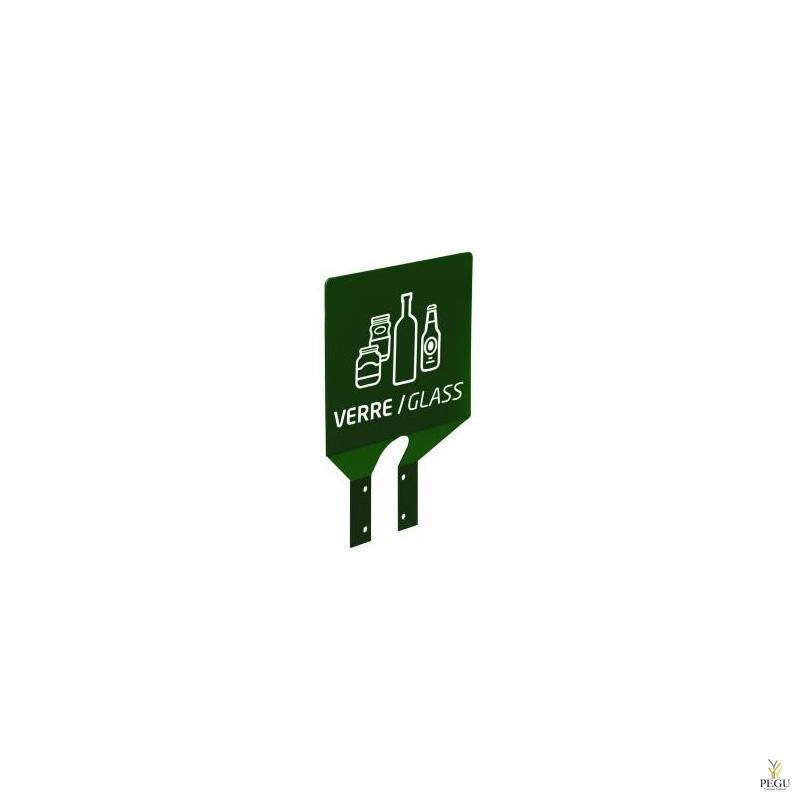 Sorteerimise plaat postile klaas roheline RAL6005