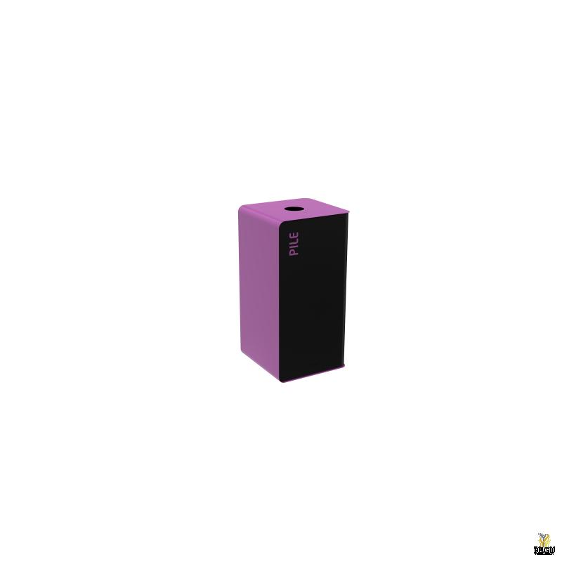 Мусорный бак для сортировки отходов CUBATRI 40L магний/фиолетовый RAL4008 батарейки