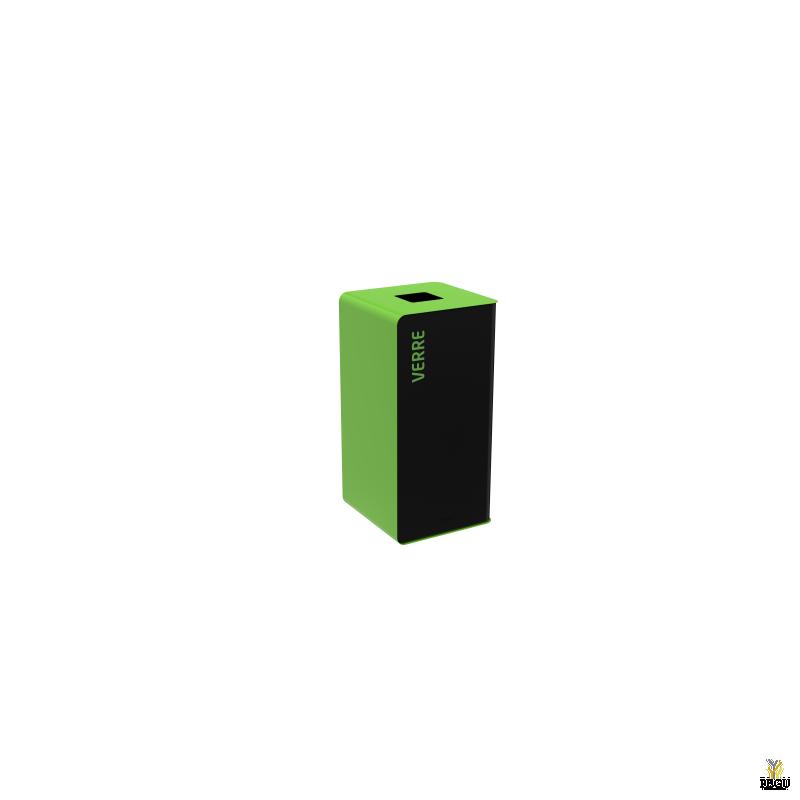 Sorteerimise prügikast  CUBATRI 40L mangaanhall/roheline RAL6018 RAL9022 klaas