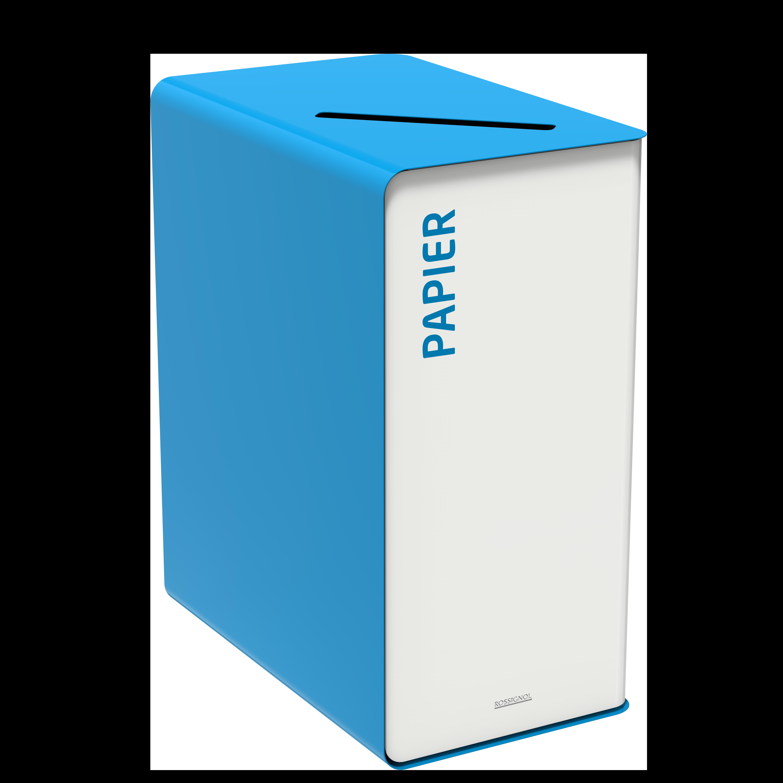 Sorteerimise prügikast  CUBATRI 65L valge/sinine RAL5015 paber