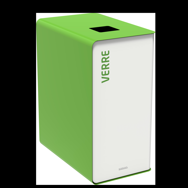 Sorteerimise prügikast  CUBATRI 65L valge/roheline RAL6018 klaas