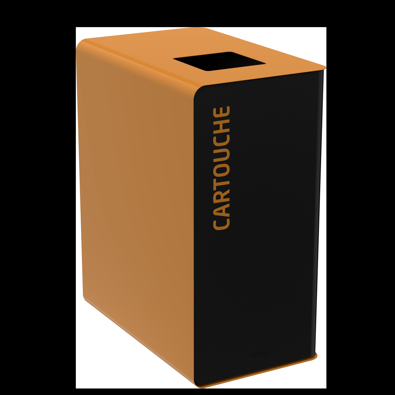 Мусорный бак для сортировки отходов CUBATRI 65L магний/коричневый RAL8001 картридж