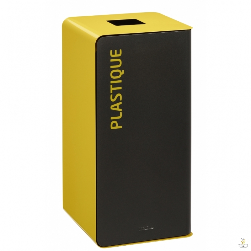 Мусорный бак для сортировки отходов CUBATRI 75L магний/жёлтый RAL1021 Пластик