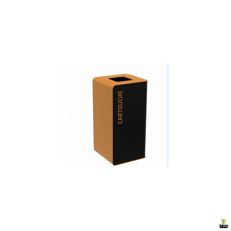 Sorteerimise prügikast CUBATRI 75L  mangaanhall/pruun RAL8001 kassett