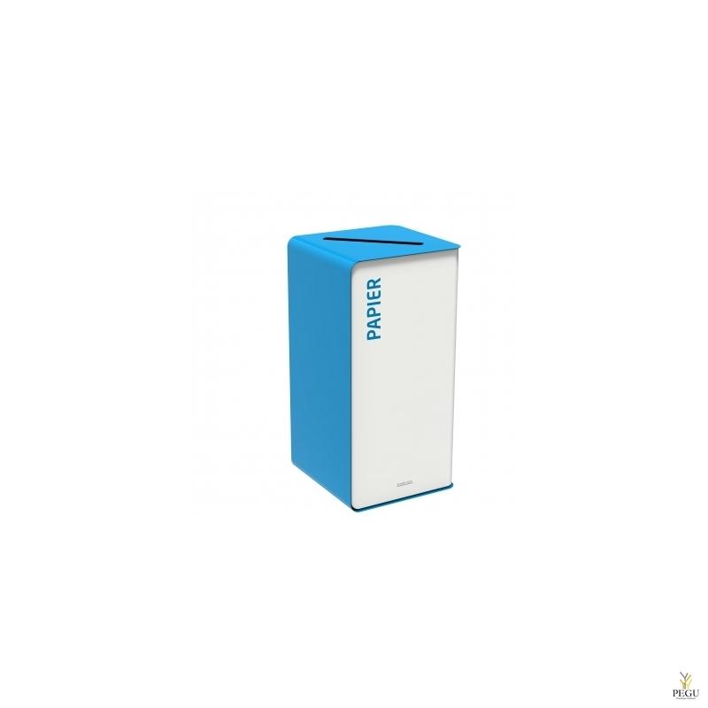 Sorteerimise prügikast CUBATRI 75L vagel/sinine RAL5015 Paber