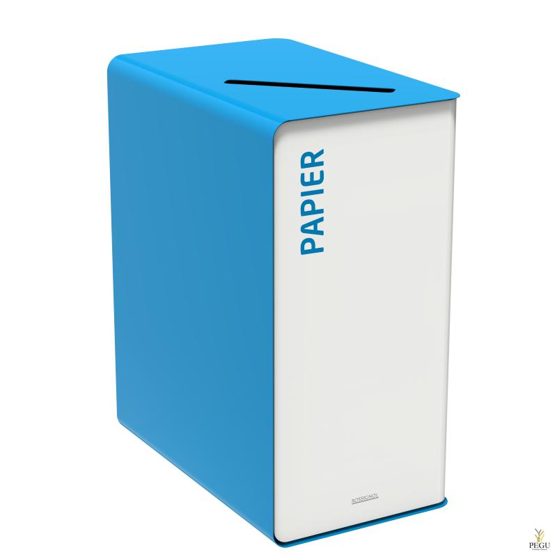 Sorteerimise prügikast CUBATRI 90L valge/sinine RAL5015 paber