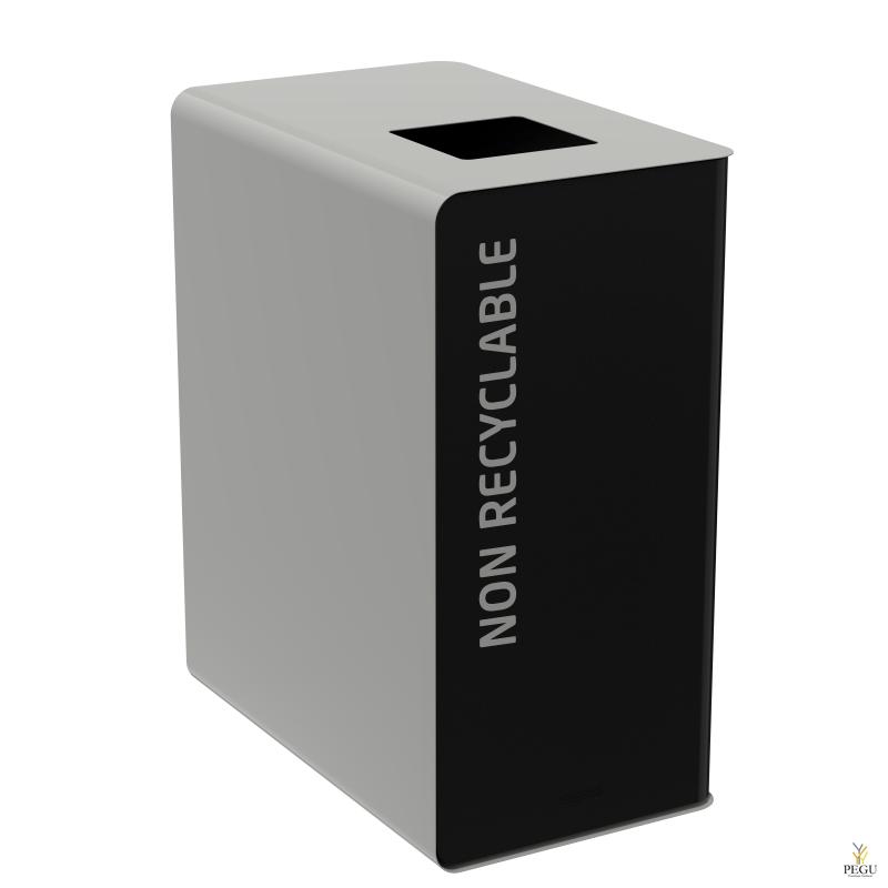 Мусорный бак для сортировки отходов CUBATRI 90L магний/серый RAL9022 прочие отходы