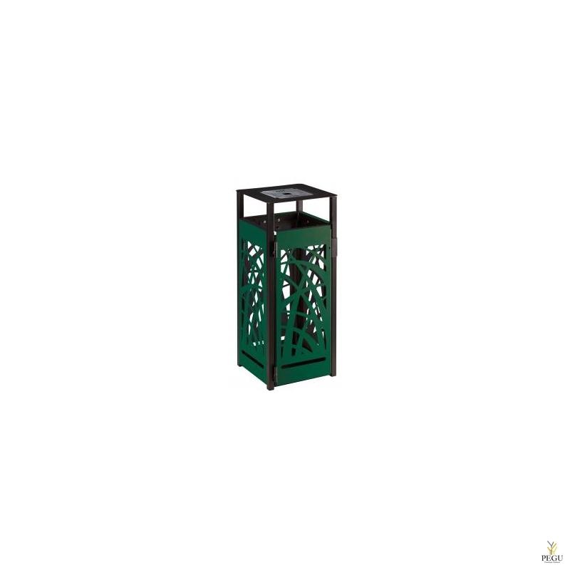 Prügikast tuhatoosiga 1.5L välitingimusele Rossignol CYBEL metall 110L Matt antratsiit +moss roheline RAL6005