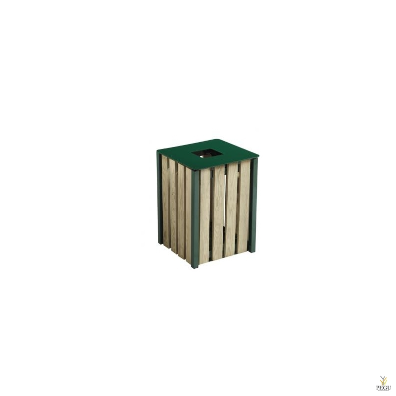 Уличная урна Rossignol EDEN дерево/металл 50L RAL6005 зелёный green foam