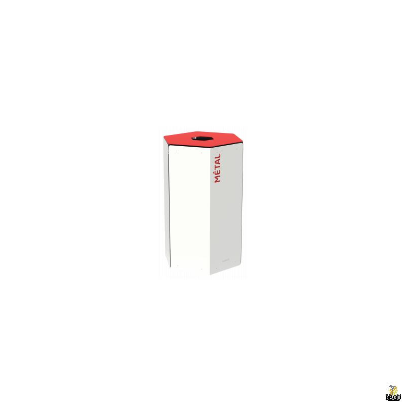 Rossignol HEXATRI урна для сортировки мусора 50L, красный/белый сталь