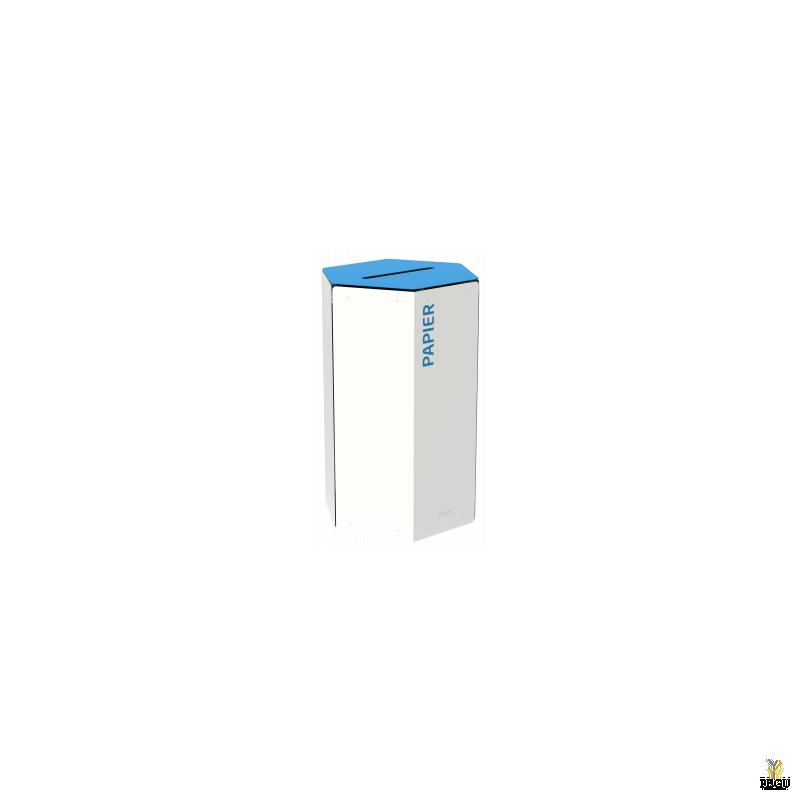 Rossignol HEXATRI урна для сортировки мусора 50L, синий/белый сталь