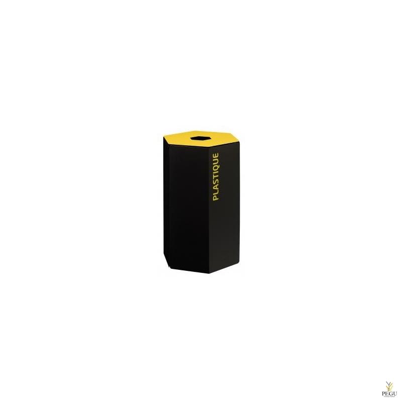 Rossignol HEXATRI урна для сортировки мусора 50L, желтый/чёрный сталь