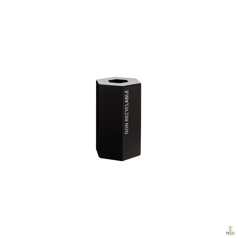 Rossignol HEXATRI урна для сортировки мусора 50L, серый/чёрный сталь