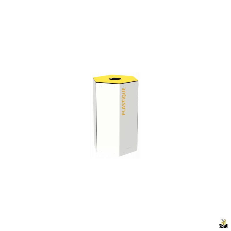 Rossignol HEXATRI Sorteerimise prügikast lukuga 50L, kollane/valge teras