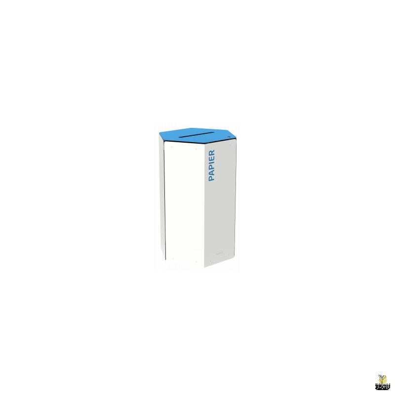 Rossignol HEXATRI урна для сортировки мусора с замком 50L, синий/белый сталь