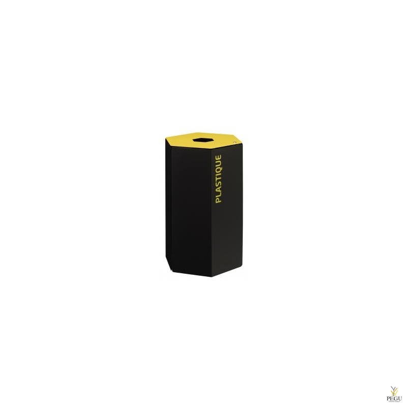 Rossignol HEXATRI Sorteerimise prügikast lukuga 50L, kollane/must teras