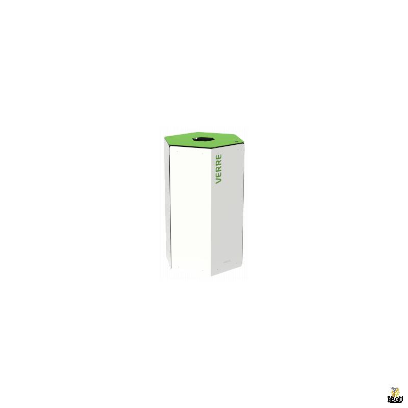 Rossignol HEXATRI урна для сортировки мусора с замком 50L, зелёный/белый сталь