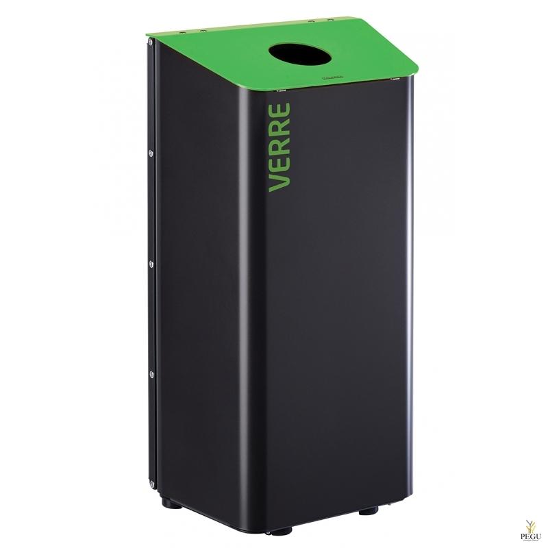 Сортировочный мусорный бак Rossignol KOLOTRI 80L зелёный RAL6018 стекло