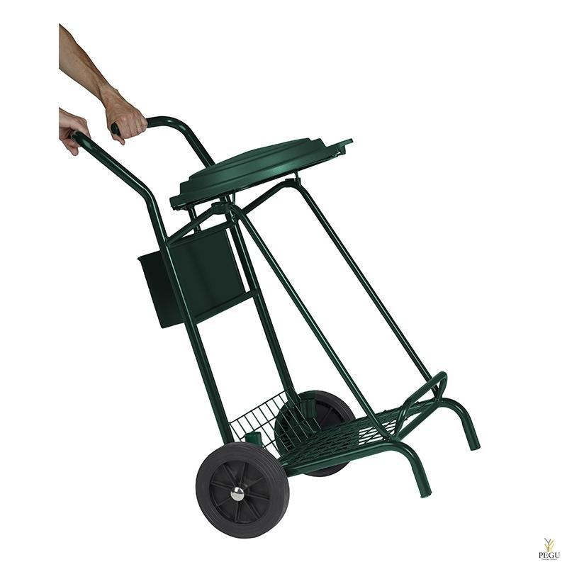 Тачка для уборки мусора улица, -сад MOBISAC 110L TROLLEY резиновые колёса